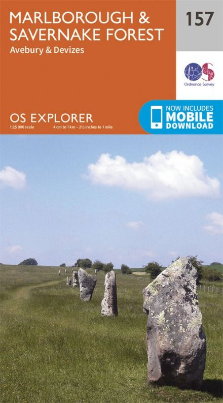 OS Explorer 157 - Marlborough & Savernake Forest, Avebury & Devizes, Silbury Hill